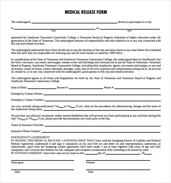 Medical Release Form - 11+ Free Samples, Examples, Formats - sample medical records release form