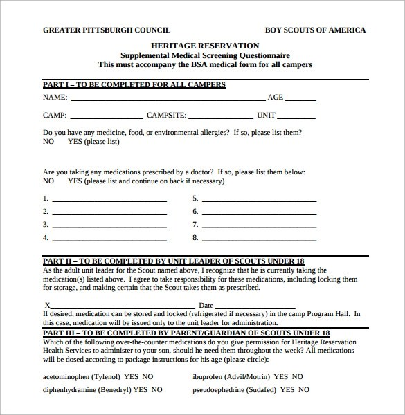 bsa medical form resume-templatepaasprovider