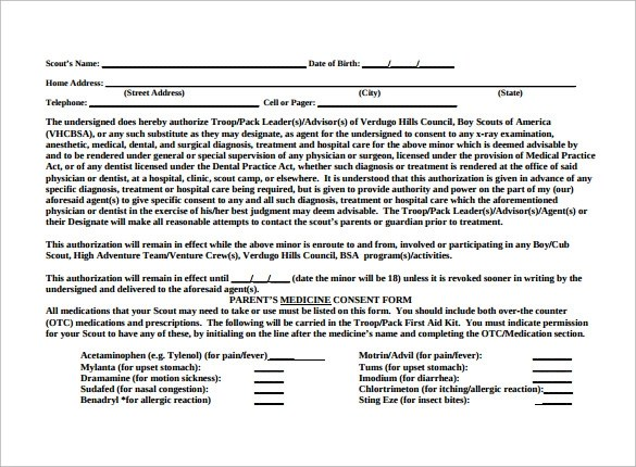 Sample Bsa Medical Form Downloadable Bsa Medical Record Camp Form - bsa medical form
