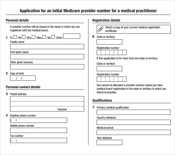 Medical Application Form - 7+ Free Samples, Examples, Format
