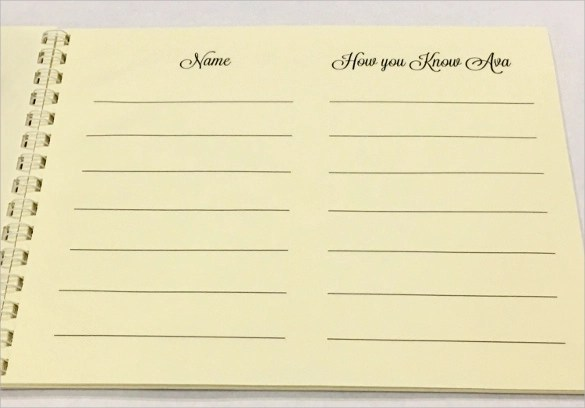 10+ Guest Books Sample Templates - guest book template