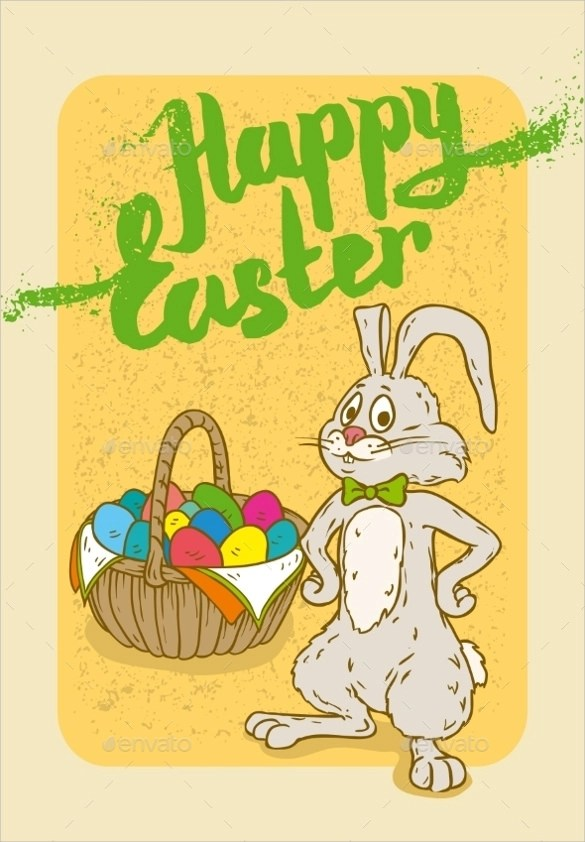 Easter Postcard Template - 18 + Download Documents In Vector EPS - sample easter postcard template