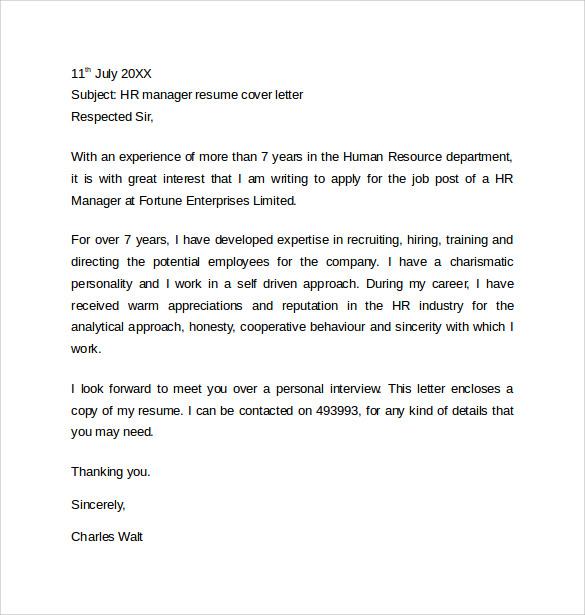 cover letter samples for it jobs