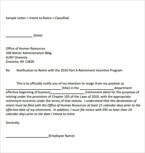 Retirement Letter Samples Format Teacher | Cover Letter Sample