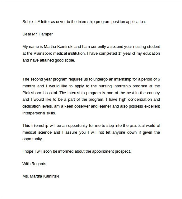11 Nursing Cover Letter Examples to Download Sample Templates - Sample Student Resume Cover Letter