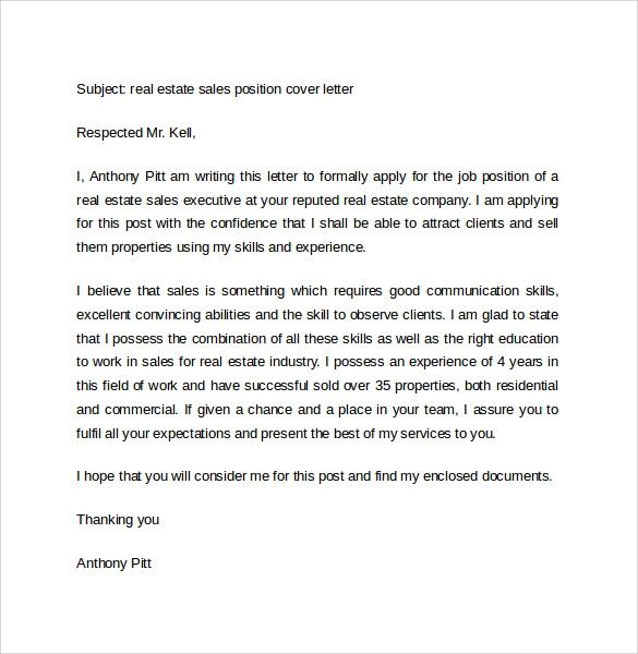 cover letter exmaples