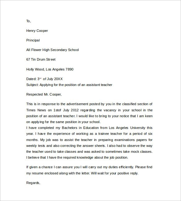 ideas of free special education teacher cover letter templates about - Cover Letter For Teacher