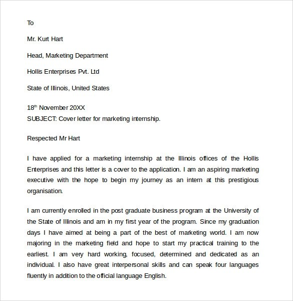 8+ Marketing Cover Letter Examples to Download Sample Templates