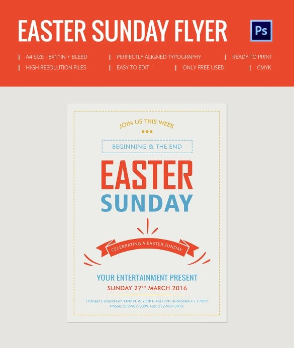 28+ Easter Flyer Templates to Download Sample Templates - easter flyer template