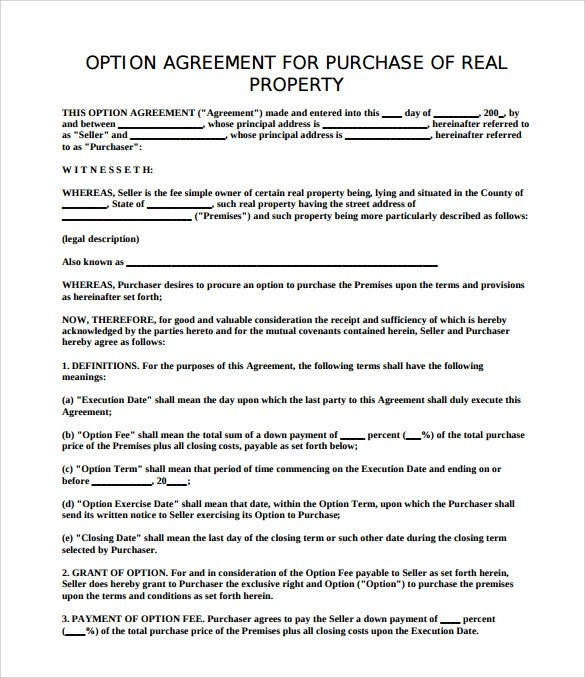 Sample Property Purchase Agreement - 8+ Free Word, PDF Documents