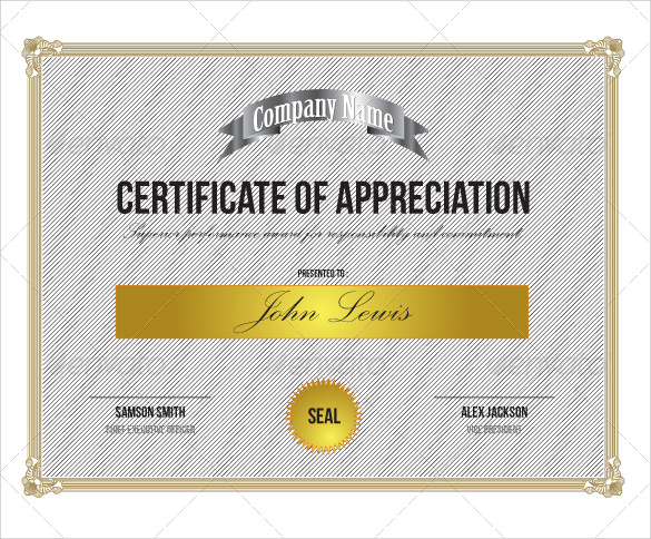 24 Sample Certificate of Appreciation Temaplates to Download