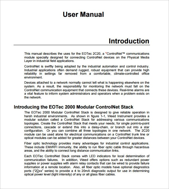 PDF user manuals pdf (28 pages) - 6 free user manual templates - software manual template