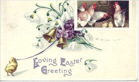 Sample Easter Postcard Template