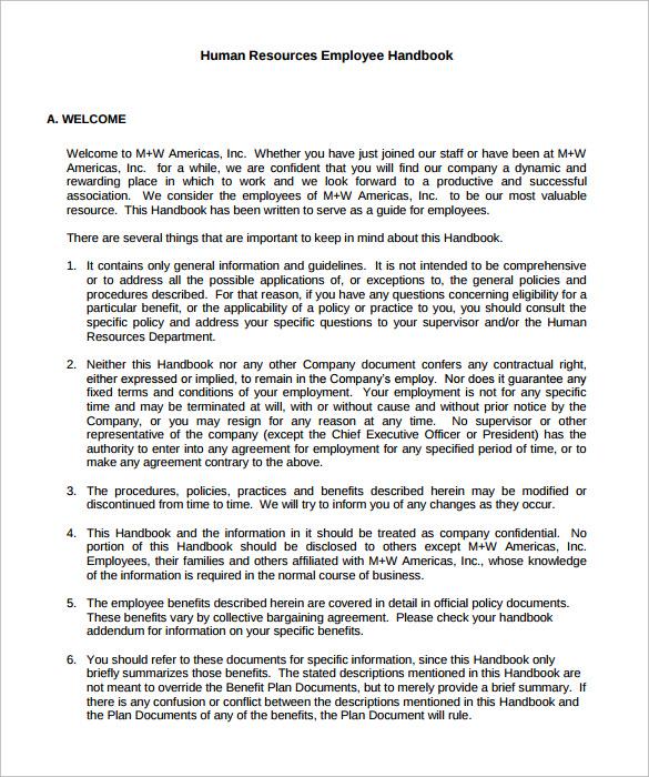 hr manual template \u2013 bitcoinrush - Employee Manual Template