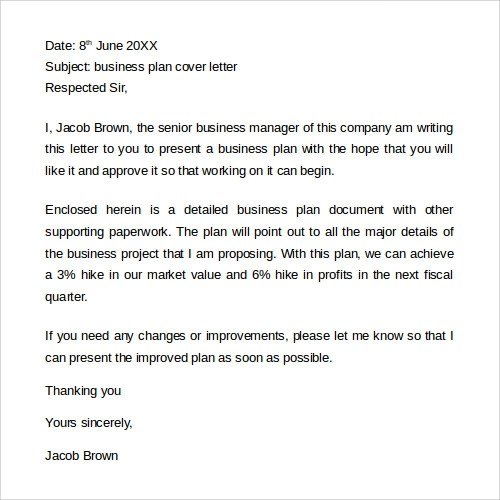 proposal cover letter. mla format business letter best business ...