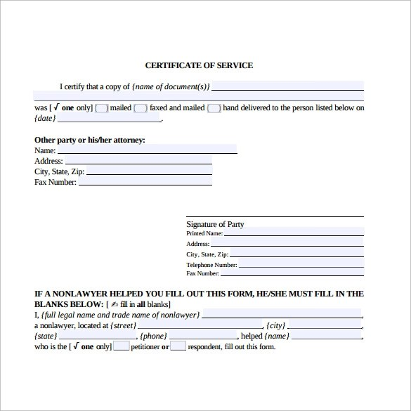 Employee Reference Template Uk – Sample Certificate of Service Template