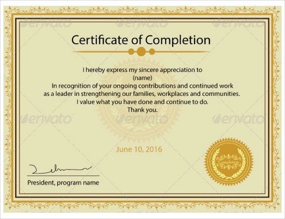 Printable Certificate Template - 13 + Download Free Documents in PDF