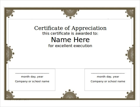 14 Printable Certificate Templates to Download Sample Templates - printable certificate templates