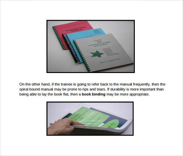 9+ Sample Training Manual Templates Sample Templates
