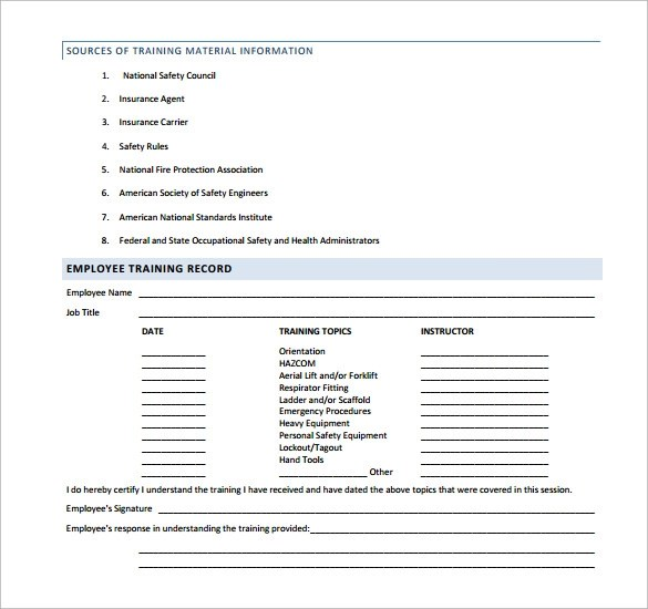 Doc585485 Sample Safety Manual Template Safety Manual Sample – Sample Safety Manual Template