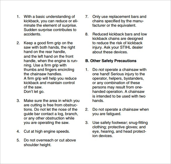 Sample Safety Manual Templates - sample safety manual template