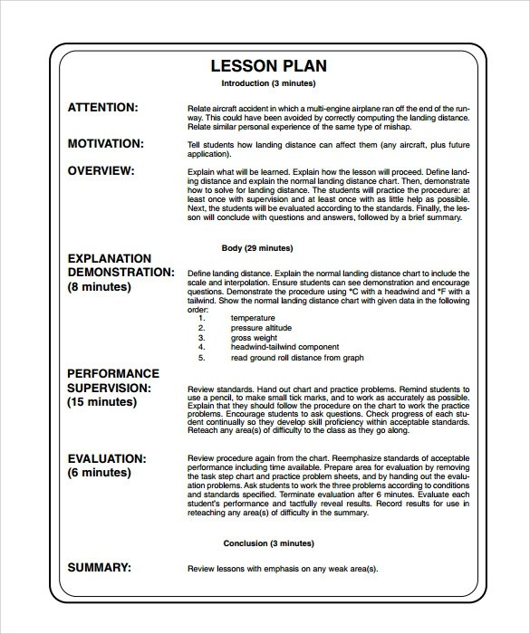 lesson plan outline example - Boatjeremyeaton