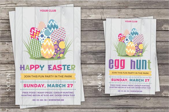 13 Easter Invitations Templates \u2013 Sample, Examples  Format Sample - easter invitations template