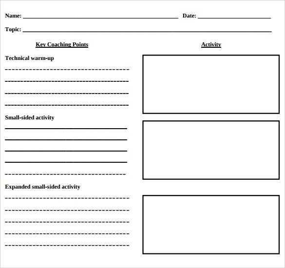 12 Blank Lesson Plan Templates \u2013 Samples, Examples  Format Sample