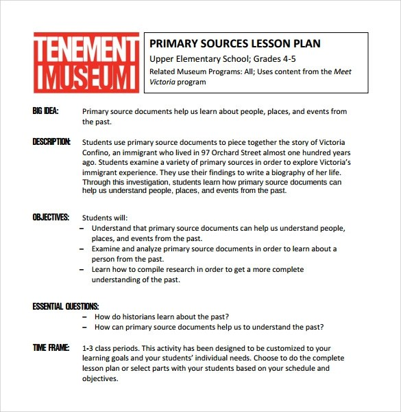 Sample Elementary Lesson Plan - 9+ Documents In PDF