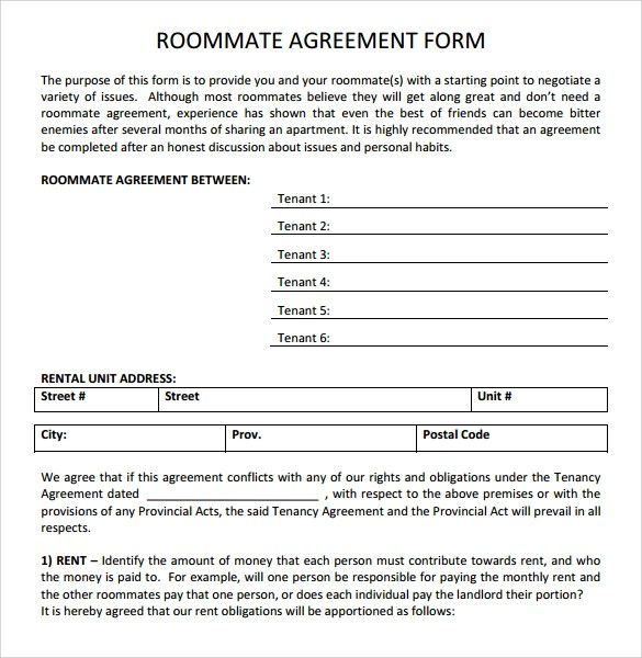 Rental Agreement Template For Bc  Create Professional Resumes
