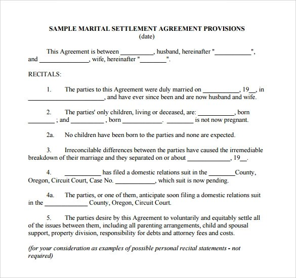 7+ Sample Separation Agreements Sample Templates - business separation agreement