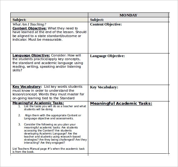 Sample Daily Lesson Plan - 11+Documents in PDF, Word
