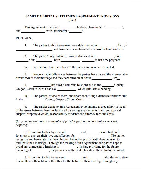 Sample Mediation Settlement Agreement Template