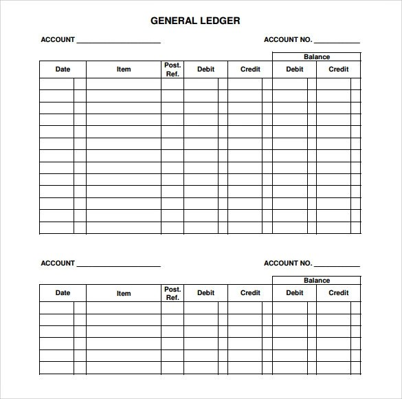 Account Ledger Template Sample General Ledger Documents In Pdf