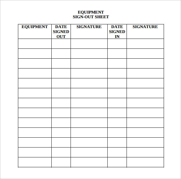 Sample Medical Sign in Sheet - 6+ Documents in PDF, Word
