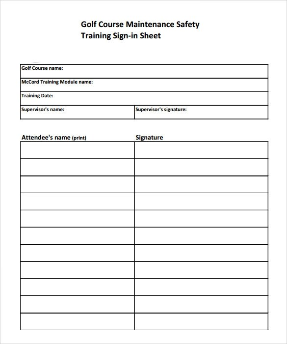 Sign Off Sheets Templates | Latex Template Poster