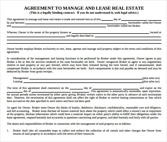 12 Management Agreements to Download Sample Templates