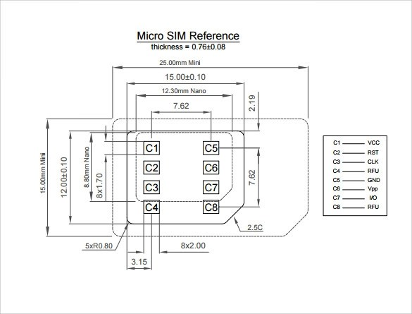 Sample Micro SIM Template - 9+ Free Documents in PDF, Word - micro sim template