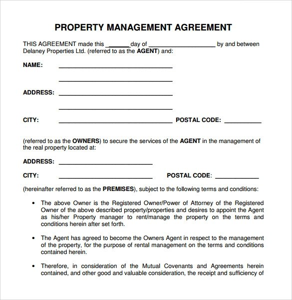 Sample Management Agreement - 11+ Free Documents in PDF , Word - property management agreements