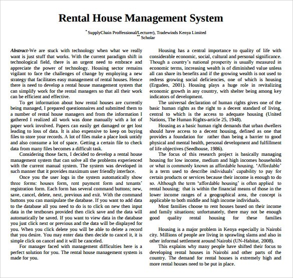 Rental Management Template 12+ property management contract - rental management template