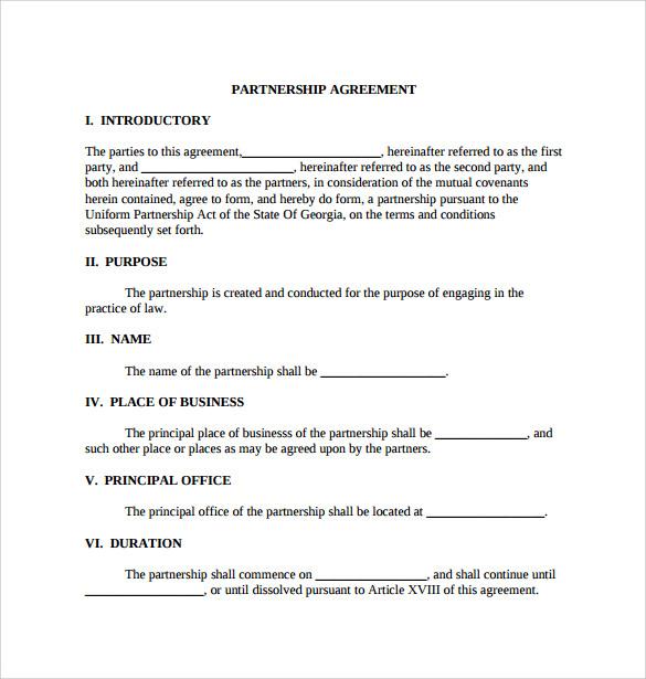 Sample General Partnership Agreement - 11+ Documents in PDF, Word - general partnership agreement