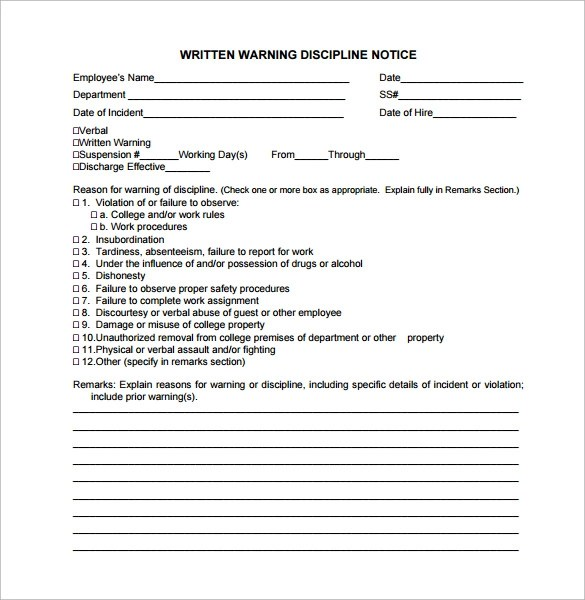 employee written warning sample - Idealvistalist - writing warning letter for employee conduct