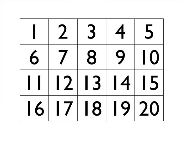 10+ Number Samples Sample Templates - number template