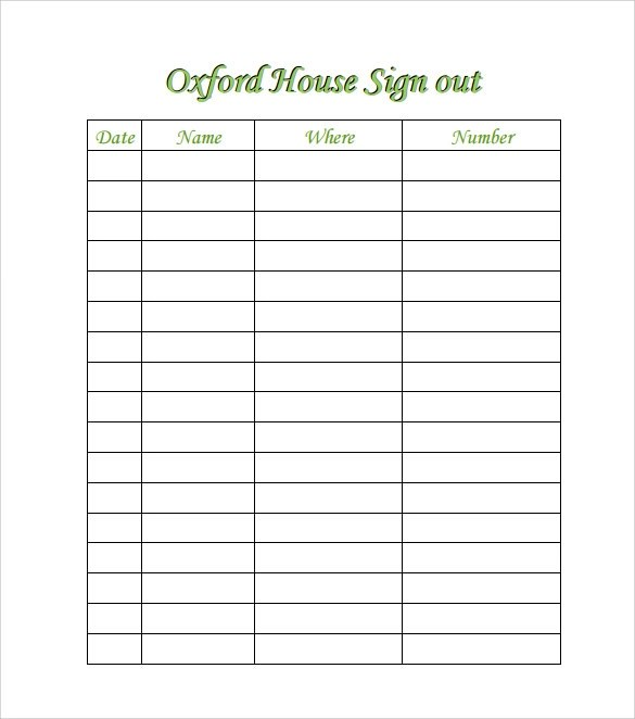 Sample Open House Sign in Sheet - 14+ Documents in PDF