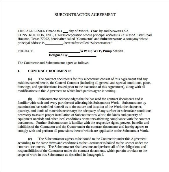 Job Agreement Contract Wfh Letter Of Agreement Explaining The – Simple Construction Contract Form