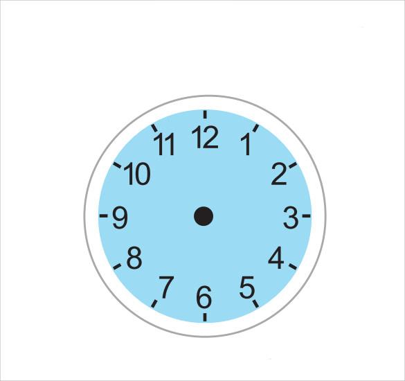 12+ Clock Face Samples Sample Templates - clock face template