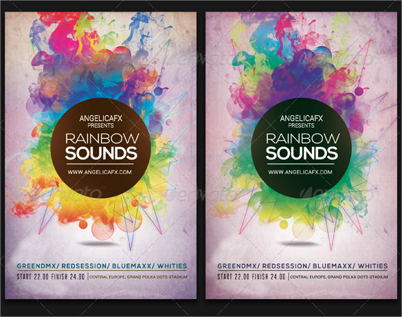 Invitation Card Template Psd 10 Rainbow Templates To Download | Sample Templates