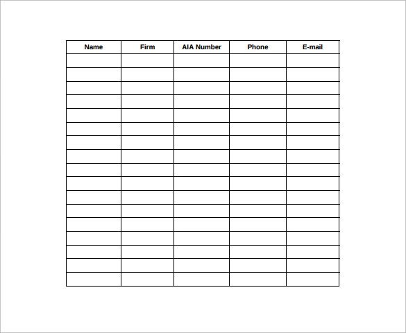 Sample Seminar Sign in Sheet - 11+ Documents in Word, PDF