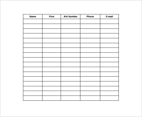 sign in sheet format - Alannoscrapleftbehind