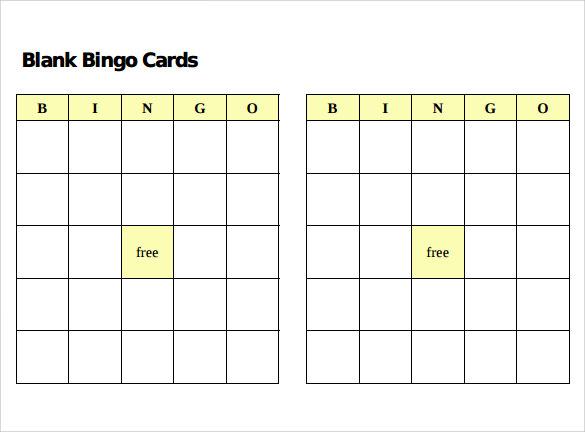 12+ Sample Bingo Cards Sample Templates - blank bingo card template